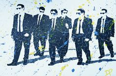 Reservoir Dogs mixed by Don Pennings 60×90 cm on linnen