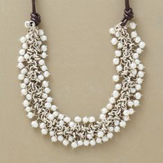 PRESENT-DAY PEARL NECKLACE - repurpose my broken pearl necklace?