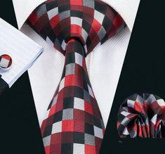 Elegantná kravatová sada - kravata + manžety + vreckovka, vzor 5.