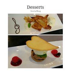 Pear tart with vanilla ice-cream, cream cheese with raisin cookies