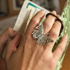 Large Butterfly Ring  by Emma Ginnever Jewellery