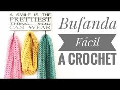 Como Hacer Bufanda Facil Tejida a Crochet (Tutorial #3) - YouTube
