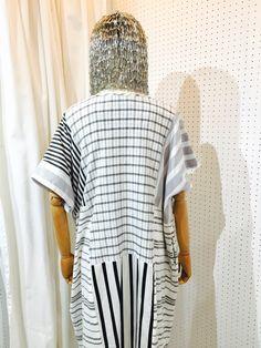 SRITALA : STRIPED MIX SHIRT DRESS : DETAIL 3#remakeclothes #ream #sritala #changchui #changchuibkk #bangkok #thailand #dresses #shirtdress