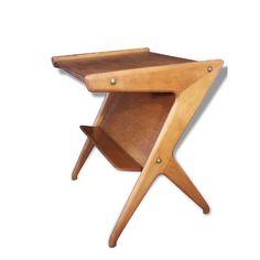 table,table d'appoint,desserte,scandinave,1950,1960,bois