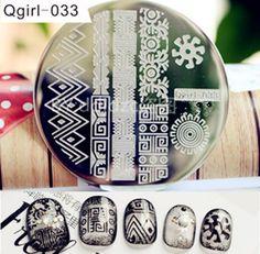 €2.33 Plaque De Stamping Motif Arabesque #Qgirl-033 - NeeJolie.fr