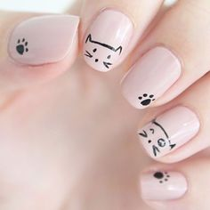 Il y a un nail art à moustaches sur le blog  #nails #nailart #nailpolish #nailstagram #nailpolishaddict #nailartaddict #catnails