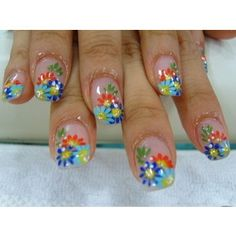 flower nail polish design