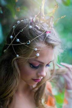 ≍ Nature's Fairy Nymphs ≍ magical elves, sprites, pixies and winged woodland faeries - fae princess Fantasy Magic, Fantasy Fairies, Foto Portrait, Fairy Princesses, Maquillage Halloween, World Photography, Fairy Photography, Portrait Photography, Tiaras And Crowns