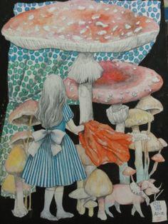 Alice's Wonderland Ch. 1 Down The Rabbit Hole| Serafini Amelia| Alice's Adventures In Wonderland-Illustration Alice in Wonderland: #Alice.