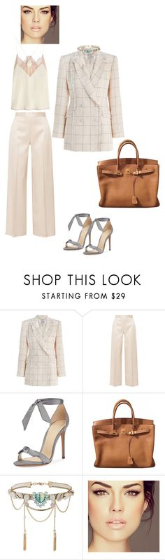 """""""Untitled #1389"""" by louneia ❤ liked on Polyvore featuring Zimmermann, The Row, Alexandre Birman, Hermès, Miss Selfridge and Zadig & Voltaire"""