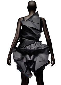 geometric fashion | Future Fashion | detail | structure | design | style | futuristic | leather | wearable art | black | high fashion | couture | Schomp BMW