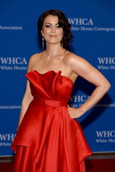 Pin for Later: Stars Set DC Aglow at the White House Correspondents' Dinner  Bellamy Young opted for a dress fit for the first lady on Scandal.