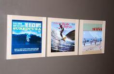 Cadre pour disque vinyle : Let's Go Surfin'