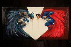 """""""Venganza/Esperanza""""... Ilustración de Alex Pardee   #Batman #Superman"""
