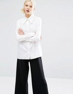 Work: Cheap Monday White Shirt With 70's Collar