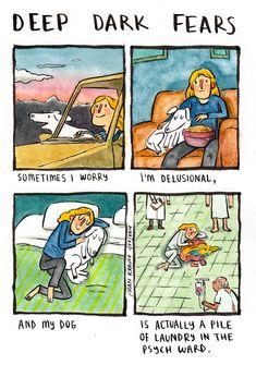 This cartoonist illustrates your deepest, darkest fears