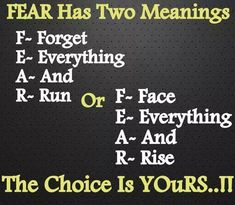 Fear acronym