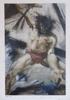 Wolverine Meltdown Splash Page - Kent Williams