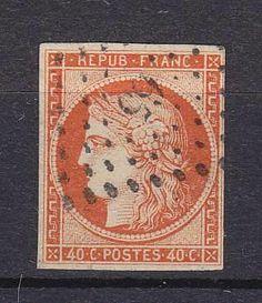 France  Catalogue (AFA) No. 5 Value Dkk. 4.500