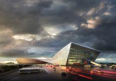Bustler: Liantang / Heung Yuen Wai Boundary Control Point Passenger Terminal Proposal by WAU Design