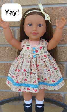 Download a free pattern for doll clothes panties for American Girl Doll and Australian Girl Doll.