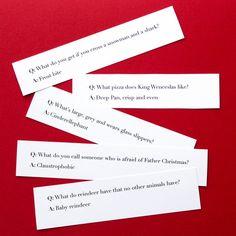 Weird Christmas cracker joke ideas funny questions