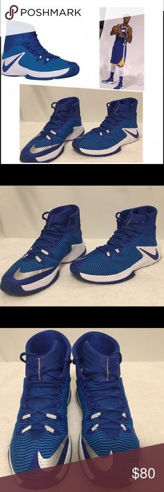 Men's Nike basketball shoes 10.5 EUC blue Zoom Out This is a pair of men's Zoom Out Clear basket ball shoes 10.5.  These shoes are in excellent used condition with no rips, stains or tears and comes from a smoke free home.  Buy with confidence I am a top rated seller, mentor and fast shipper.  Don't forget to bundle and save.  Thank you. Nike Shoes Athletic Shoes
