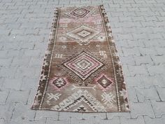 Brown Rug, Hallway Rug, Pink Rug, Small Rugs, Floor Rugs, Handmade Rugs, Rug Runner, Vintage Rugs, Rugs On Carpet