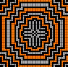 Artwork by at Grid Paint. Cross Stitch Fruit, Cross Stitch For Kids, Bead Loom Patterns, Mosaic Patterns, Quilting Projects, Quilting Designs, Cross Stitch Designs, Cross Stitch Patterns, Optical Illusion Quilts