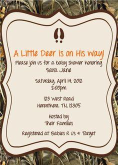 Little Hunter Baby Shower Invitation by ExpectedBlessings on Etsy, $12.00