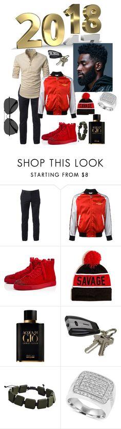 """Happy New Years!!!!"" by ashleynicole22 ❤ liked on Polyvore featuring Urban Pipeline, GCDS, Christian Louboutin, 21 Men, Giorgio Armani, J.B. Nifty, MANGO, EyeBuyDirect.com, men's fashion and menswear"
