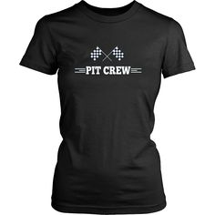 Pit Crew T Shirt for Hosting Race Car Parties, Parents