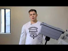 How to Remove a Popcorn Ceiling Using A Popcorn Ceiling Removal Bucket - DIY Product Demonstration - YouTube