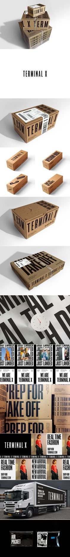 Terminal X is a Hot Fashion Brand With Sleek Typography That Speaks For Itself — The Dieline | Packaging & Branding Design & Innovation News
