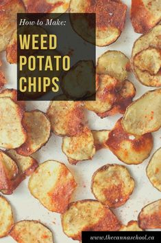 Potato chips are probably the most popular snack of all time. For this reason, I had to infuse them. I present to you: weed potato chips! Weed Recipes, Marijuana Recipes, Cooking With Marijuana, Vegan Gummies, Hemp Recipe, Cannabis Edibles, Potato Chips, Stoner Snacks, Cannabis Cookbook