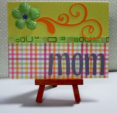 """Green Flower Mom Card This card measures approximately 4.25"""" x 5.5"""" in size http://kinamileli.wix.com/pink-mermaid-"""