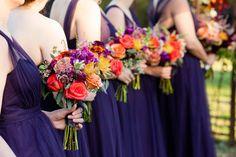 Rustic Fall Wedding Bouquets