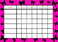 free behavior charts   Free printable Behavior Charts,Reward Charts and Visual Cues to help ...