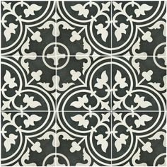 "Found it at AllModern - Artea 9.5"" x 9.5"" Porcelain Field Tile in Black"