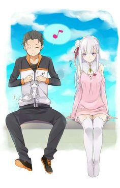 Subaru e Emília~anime re:zero