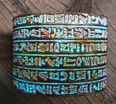Ancient Egypt polymer clay cuff