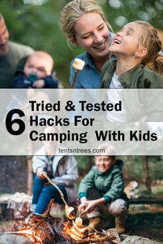 These are the best tips for camping with kids. The second tips if the most important one for our family. #TentsnTrees #campingwithkids #campinghacks