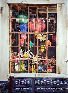 Chinese Lantern Window | The Artwork of Ric Dentinger |