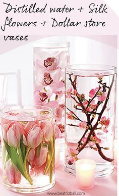 DIY flower centerpieces. Inexpensive and exquisite