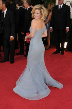 Drew Barrymore. 2009 Golden Globes. Christian Dior by John Galliano.