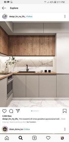 Kitchen Cabinet Layout, Kitchen Room Design, Luxury Kitchen Design, Home Decor Kitchen, Interior Design Kitchen, Home Kitchens, Kitchen Cabinets, Island Kitchen, Kitchen Furniture