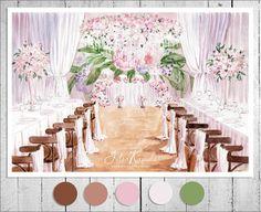 "40 Likes, 3 Comments - i0sik Юлия Каюда (@i0sikkayuda91) on Instagram: ""Эскиз для @dolche_vita_decor светлый и нежный #illustrations #illustrator #weddingdecor #wedding…"""