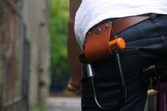 Leather D Lock Holder by Deer Runner #bicycle