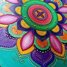 Imagen relacionada Dot Art Painting, Mandala Painting, Stone Painting, Mandala Dots, Mandala Design, Doodle Canvas, Tantra Art, Mandalas Drawing, Bubble Art