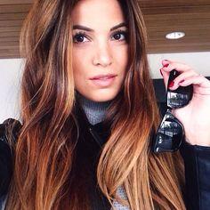 Brunette balayage on Negrin Corte Y Color, Hair Affair, Fall Hair, Winter Hair, Great Hair, Big Hair, Hair Today, Gorgeous Hair, Hair Looks